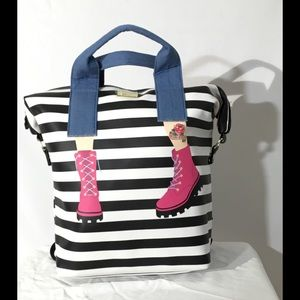 Luv Betsey By Betsey Johnson Striped Backpack/Tote